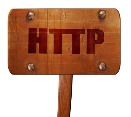 http: http, 3D rendering, text on wooden sign Stock Photo