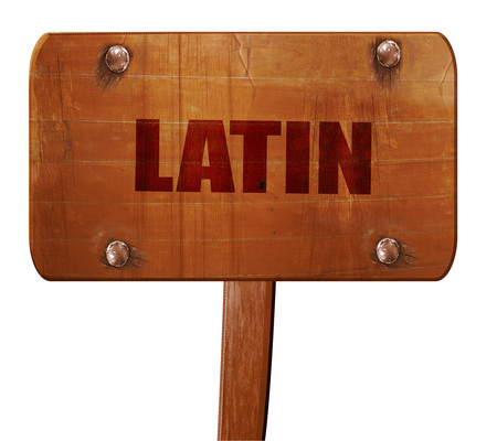 music 3d: latin music, 3D rendering, text on direction sign