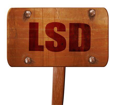 lsd: lsd, 3D rendering, text on direction sign