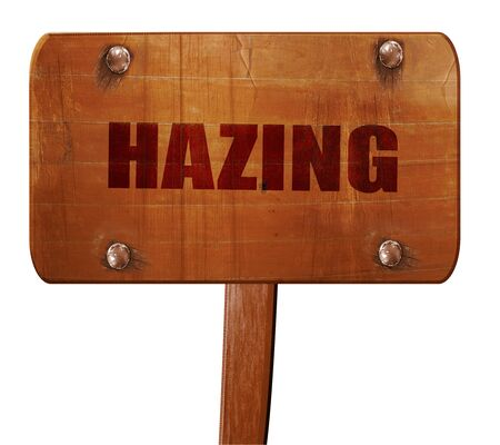 hazing, 3D rendering, text on direction sign