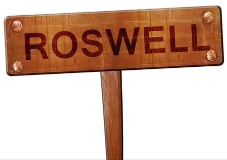 roswell: roswell road sign, 3D rendering Stock Photo