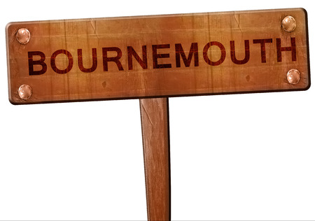 bournemouth: Bournemouth road sign, 3D rendering Stock Photo