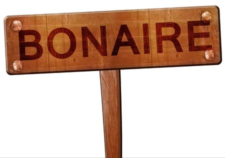 bonaire: Bonaire road sign, 3D rendering