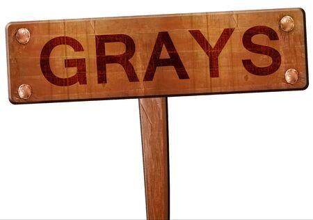 grays: Grays road sign, 3D rendering