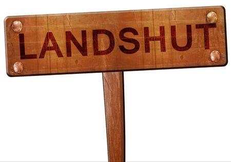 landshut: Landshut road sign, 3D rendering