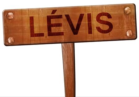 levis: Levis road sign, 3D rendering