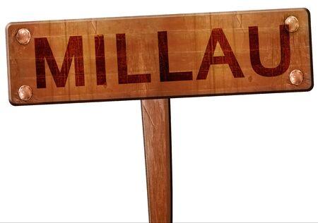 millau: millau road sign, 3D rendering