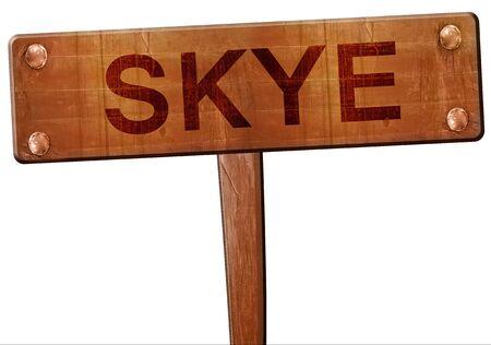 skye: Skye road sign, 3D rendering