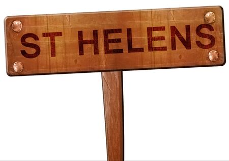 helens: St helens road sign, 3D rendering