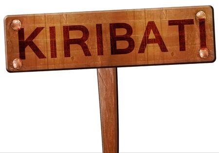 kiribati: Kiribati road sign, 3D rendering