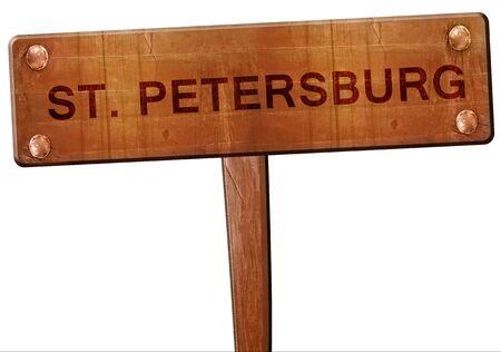 st  petersburg: st. petersburg road sign, 3D rendering