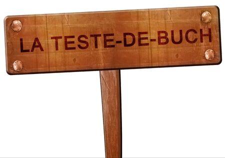 buch: la teste-de-buch road sign, 3D rendering