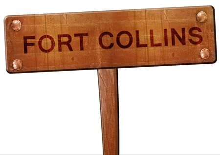 collins: fort collins road sign, 3D rendering Stock Photo