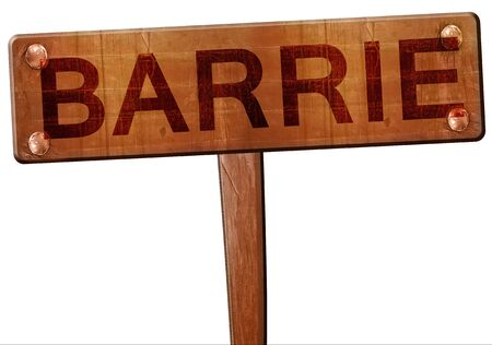 barrie: Barrie road sign, 3D rendering