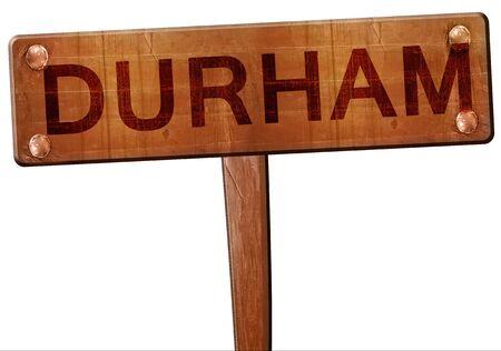 durham: Durham road sign, 3D rendering Stock Photo