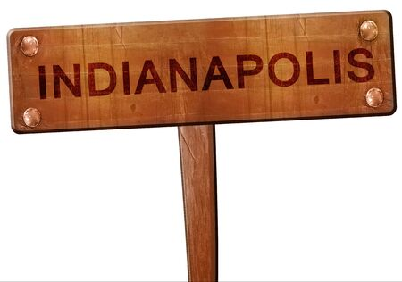 indianapolis: indianapolis road sign, 3D rendering