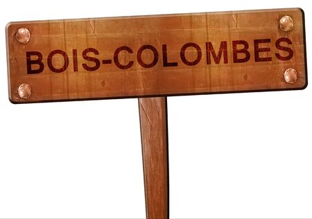 bois: bois-colombes road sign, 3D rendering Stock Photo