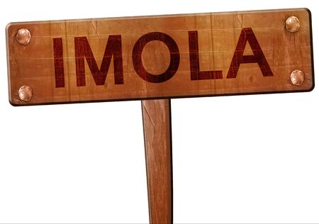 imola: Imola road sign, 3D rendering