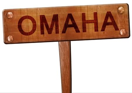 omaha: omaha road sign, 3D rendering Stock Photo