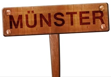 munster: Munster road sign, 3D rendering