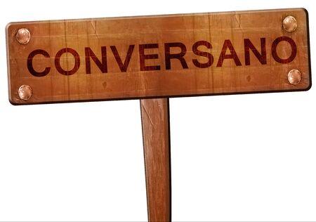 Conversano road sign, 3D rendering Stock Photo