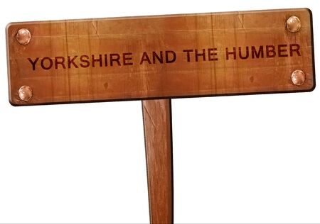 yorkshire and humber: Yorkshire and the humber road sign, 3D rendering Stock Photo