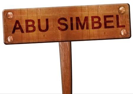 abu simbel: abu simbel road sign, 3D rendering