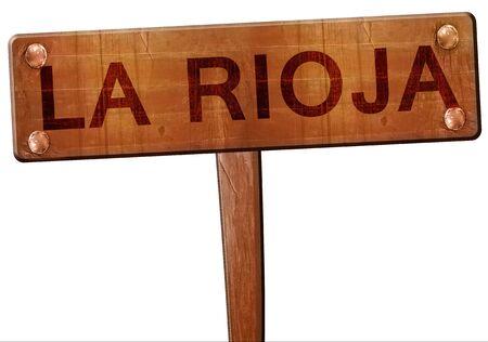 rioja: La rioja road sign, 3D rendering
