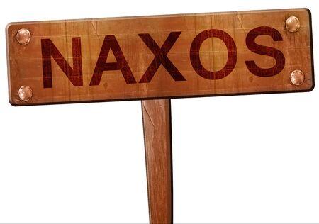 naxos: Naxos road sign, 3D rendering