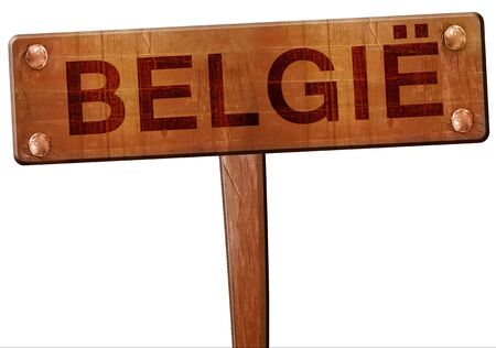belgie: belgie road sign, 3D rendering