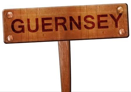 guernsey: Guernsey road sign, 3D rendering