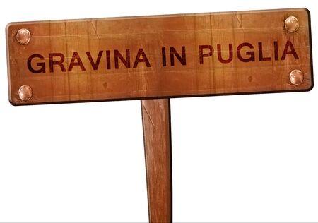 puglia: Gravina in puglia road sign, 3D rendering