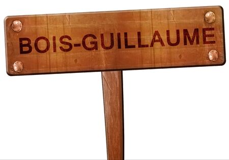 bois: bois-guillaume road sign, 3D rendering