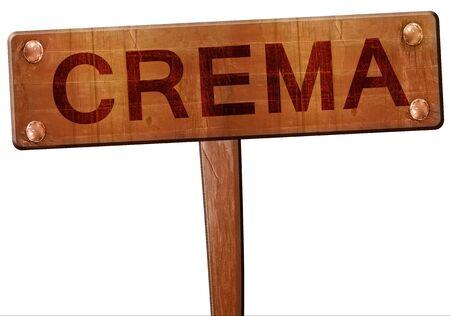 crema: Crema road sign, 3D rendering