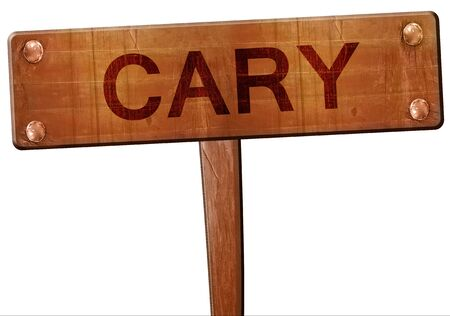 cary: cary road sign, 3D rendering