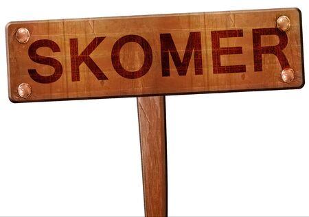 skomer: Skomer road sign, 3D rendering