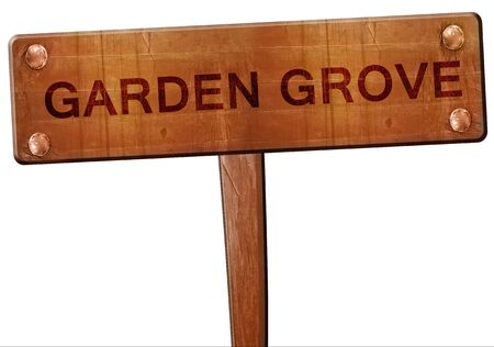 arboleda: garden grove road sign, 3D rendering