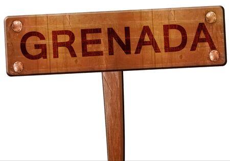 grenada: Grenada road sign, 3D rendering