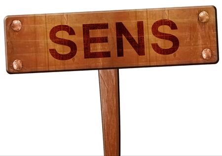 sens: sens road sign, 3D rendering