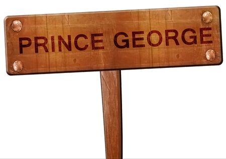 george: Prince george road sign, 3D rendering Stock Photo