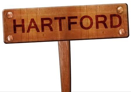 hartford: hartford road sign, 3D rendering
