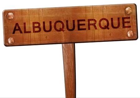 albuquerque: albuquerque road sign, 3D rendering