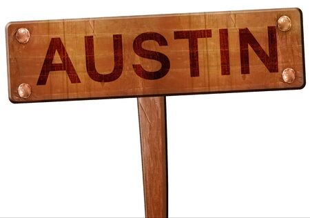 austin: austin road sign, 3D rendering Stock Photo