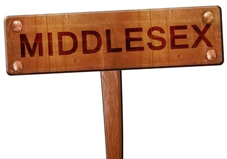 middlesex: Middlesex road sign, 3D rendering
