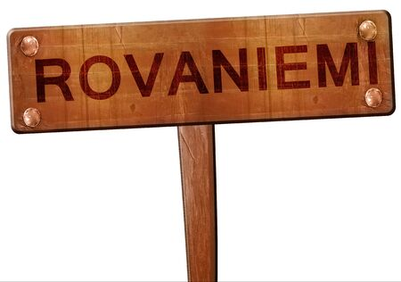 rovaniemi: Rovaniemi road sign, 3D rendering