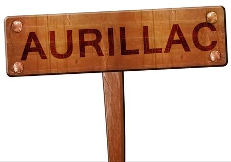 aurillac: aurillac road sign, 3D rendering