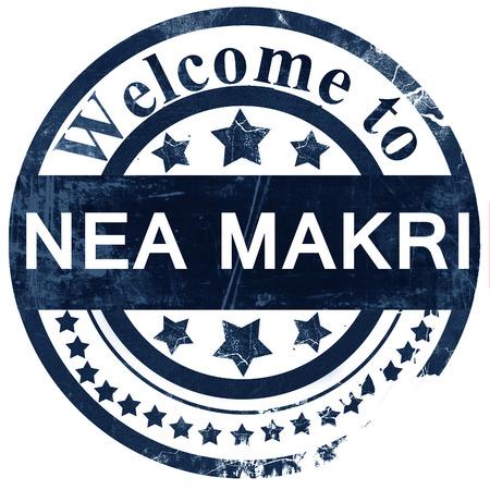 makri: Nea Makri stamp on white background