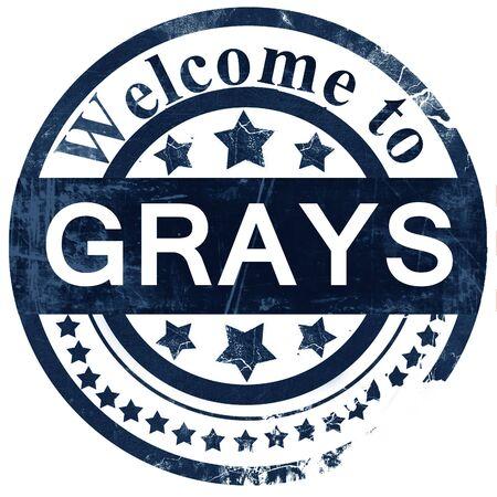 grays: Grays stamp on white background Stock Photo