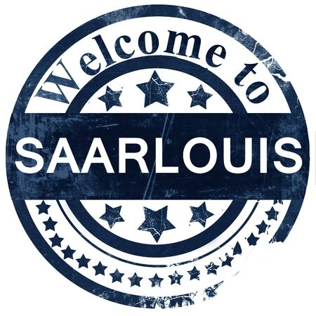 saarlouis: Saarlouis stamp on white background
