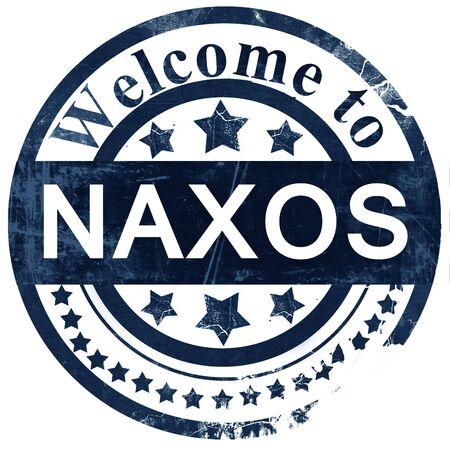 naxos: Naxos stamp on white background